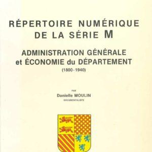 Administration générale et économie - répertoire numérique de la série M.