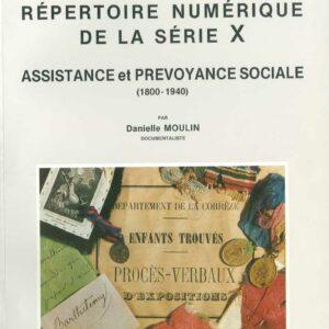 Assistance et prévoyance sociale - répertoire numérique de la série X